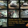 Toyota Yaris 2012, Pemasangan dan Pengecatan Bodykit TRD