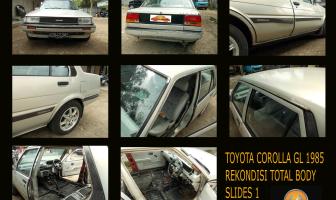 Toyota Corolla EE 80 / Corolla GL 1985, Pengecatan Total body.