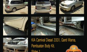 KIA Carnival, Pembuatan Bodykit Custom dan Cat Total