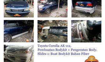 Toyota Corolla AE 112, Pembuatan Bodykit dan Pengecatan Keliling.