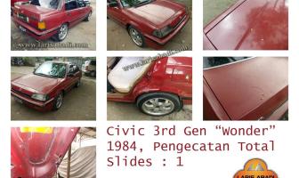 Civic Wonder 1984, Pengecatan Total