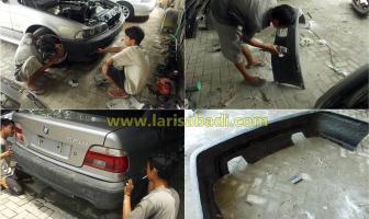 BMW 528i E39, Pengecatan dan Pemasangan Bodykit