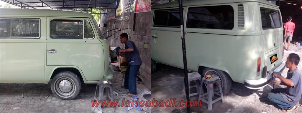 Polishing VW Kombi 79