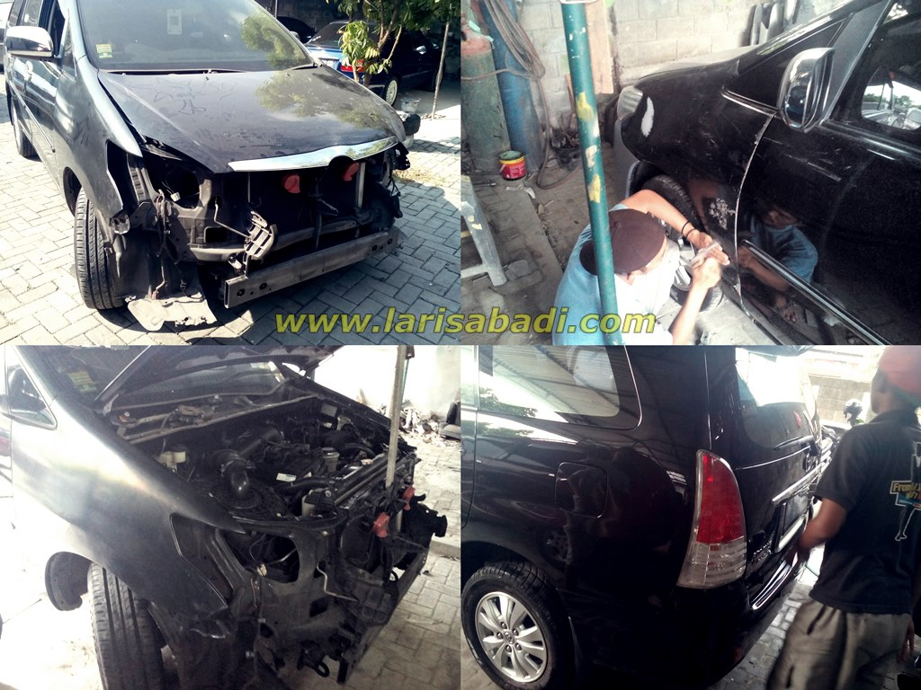 Proses Fitting parts upgrade Innova lama ke baru