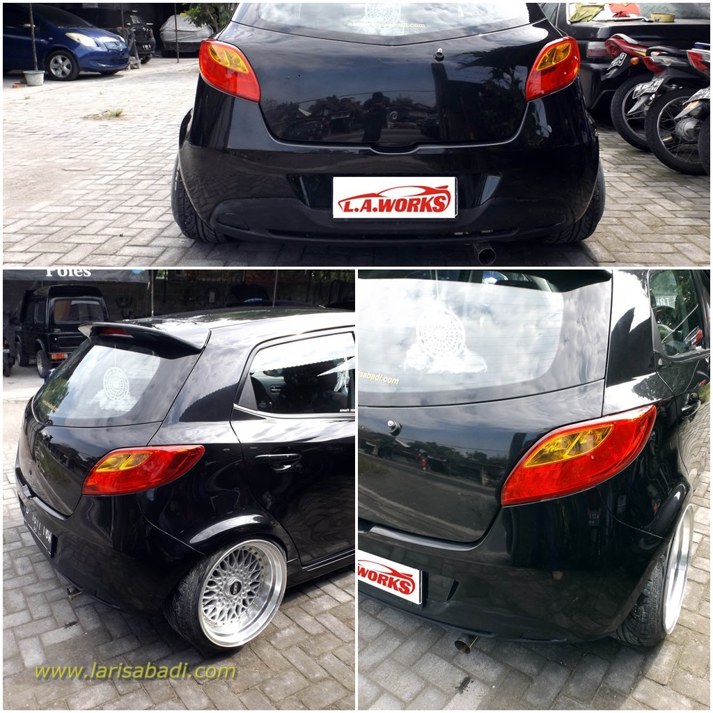 Hasil modifikasi wide body Mazda 2 / Mazda Demio